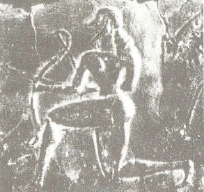 .......böotisches Bronzerelief- Bogenjagd........
