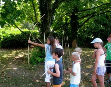 Erste Versuche mit dem Bambusstock- Bogen
